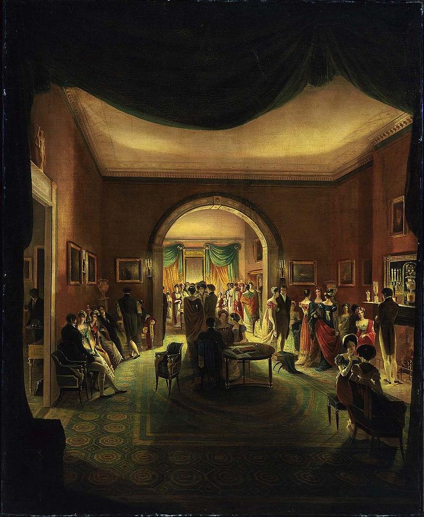 Henry Sargent 1821 ca The Tea Party Museum Fine Arts Boston 163.5 x 133 cm