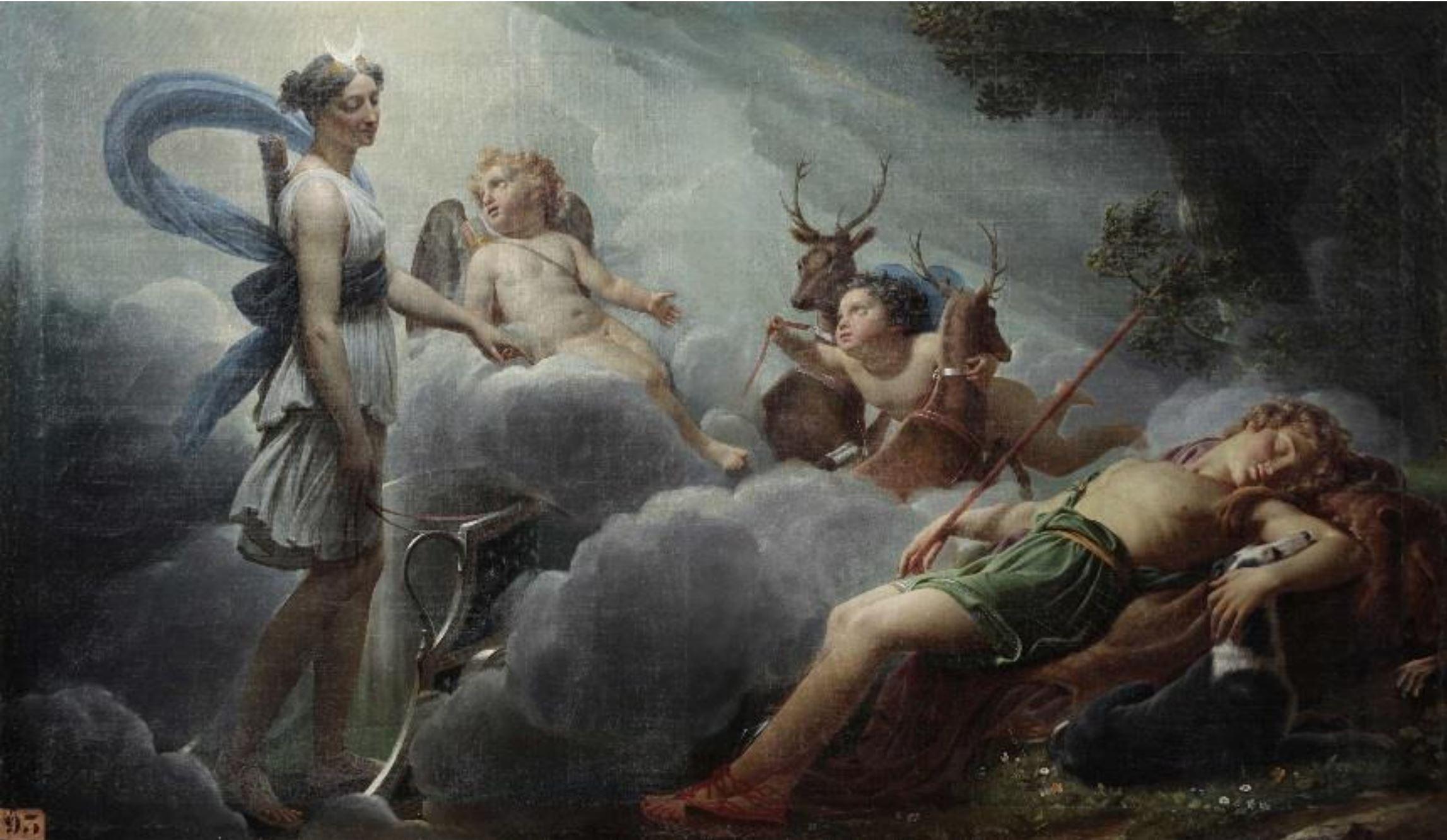 Hersent 1817 Diane et Endymion Musees E. Berry, Sens