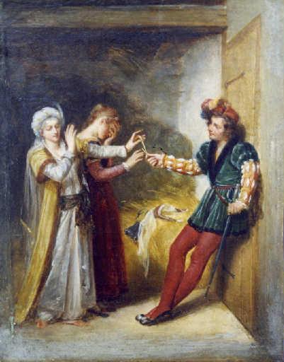 Hersent 1818-19 La Fiancee du roi de Garbe Musee de chateau-thierry