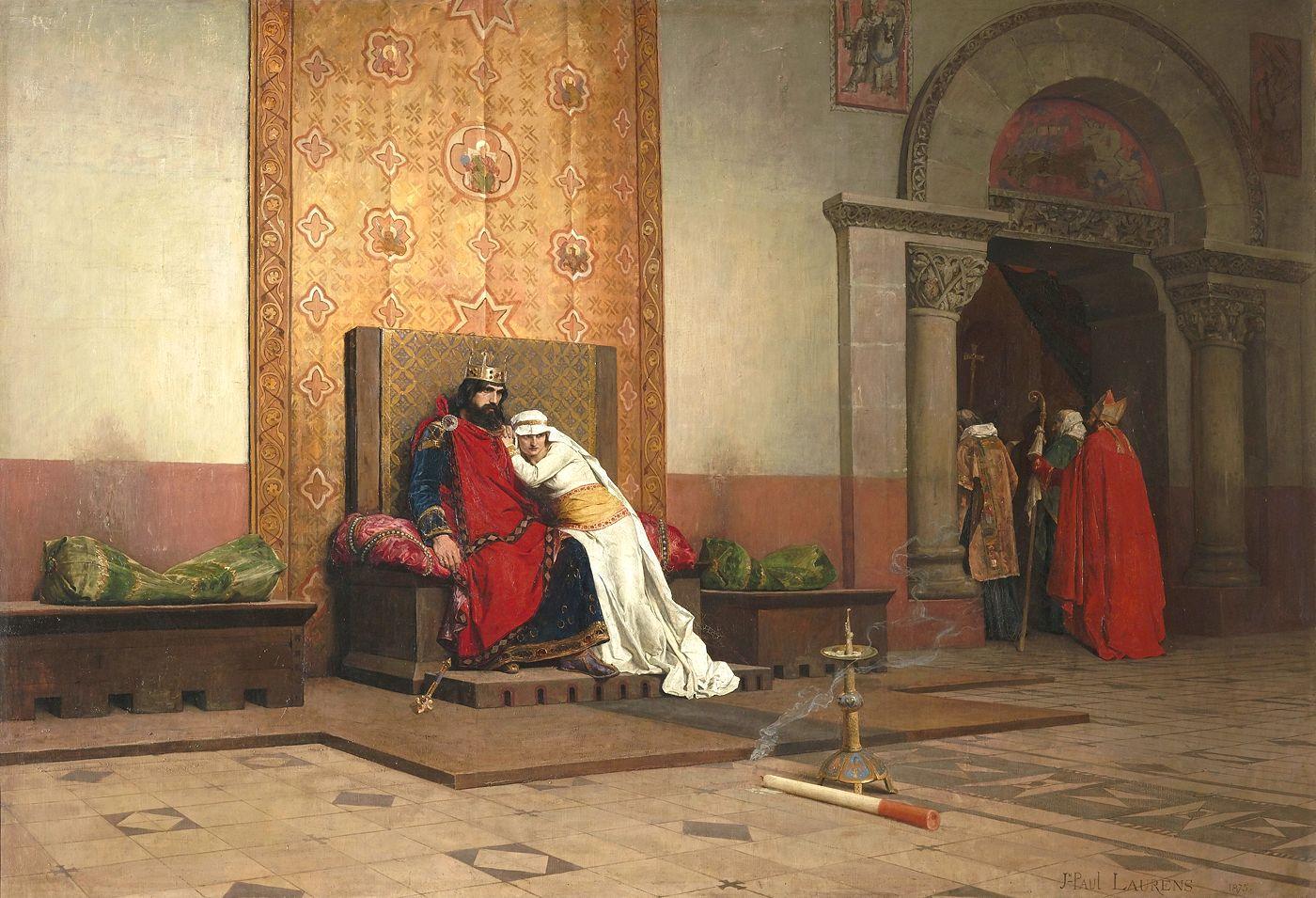 Jean Paul Laurens 1875 salon excomunication de robert le Pieux _orsay 130 × 218 cm