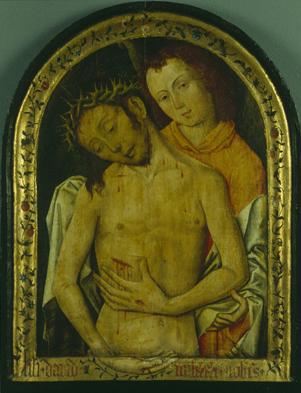 Le Christ de pitie soutenu par un ange pays-bas-meridionaux-Musees rioyaux des Beaux Arts de Belgique