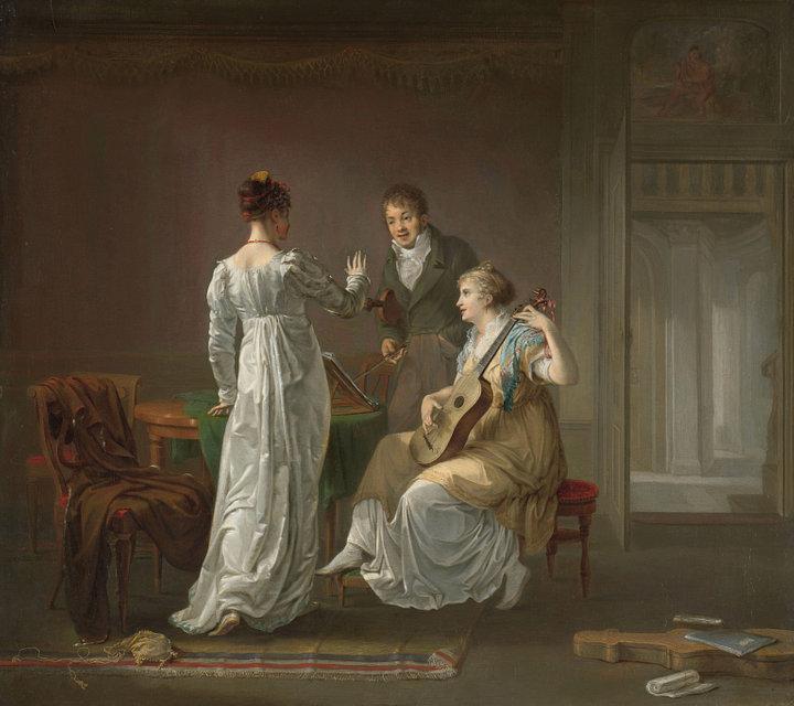 Louis Moritz 1808 La leçon de musique Rikjsmuseum