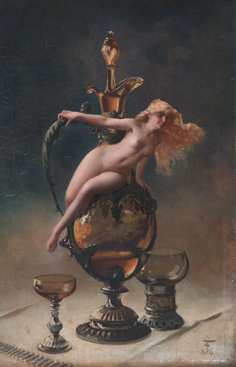 Luis_Ricardo_Falero 1886 Le_vin de Tokay col privee