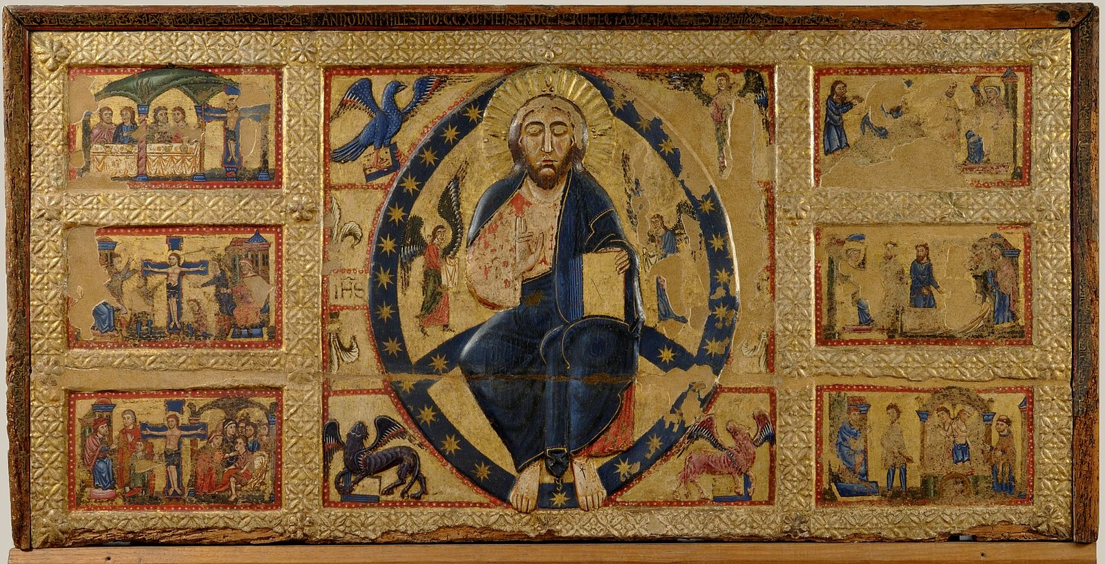 Master_of_Tressa_The_Saviour_Blessing_and_Stories_of_the_True_Cross_1215_Siena_Pinacoteca.