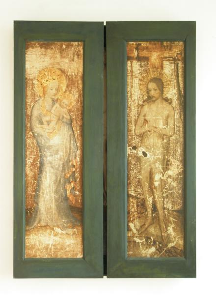 Paehler Altar vers 1400 Bayerische Nationalmuseum revers