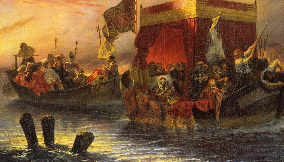 Paul Delaroche 1829 The_State_Barge_of_Cardinal_Richelieu_on_the_Rhone Wallace Collection WGA06263