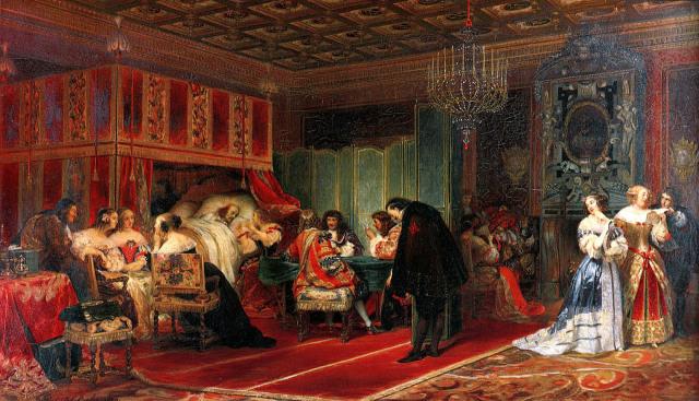 Paul-Delaroche 1830 Cardinal-Mazarin-Dying Wallace collection