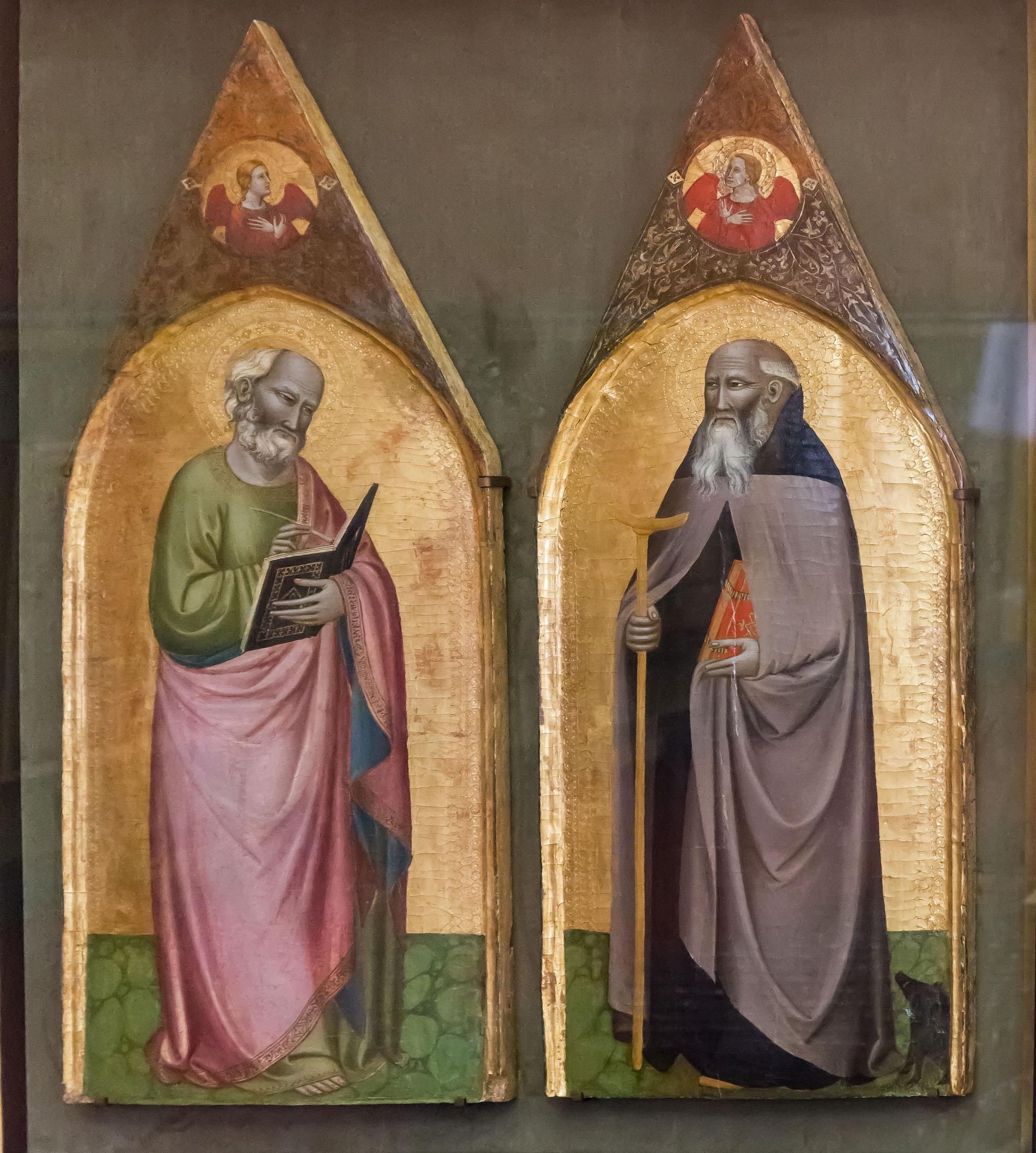 Pietro Nelli Johannes der Evangelist und Hl. Antonius Abbas 1360-1365, Lindenau-Museum Altenburg