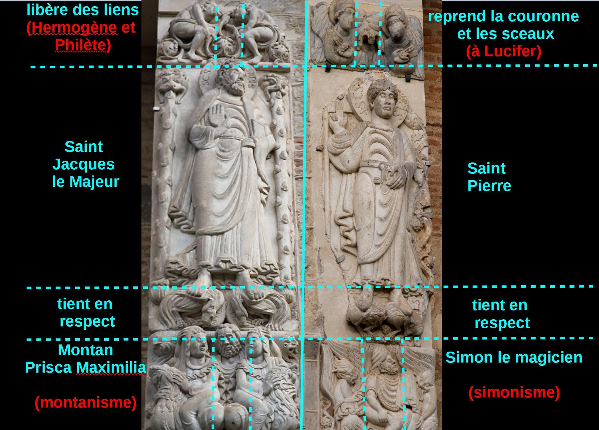 Porte Miegeville Saint sernin de Toulouse Jacques Pierre schema