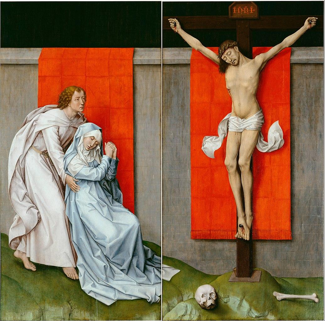 Rogier van der Weyden, 1450 ca Crucifixion Diptych Philadelphia Museum of Art