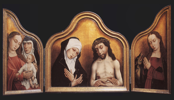 Triptych of Pope Clemens VII, Brusselsworkshop, c. 1500, Museo Diocesano, Cagliari