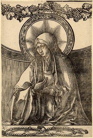Vierge au rosaire, Lucas de Leyde vers 1520