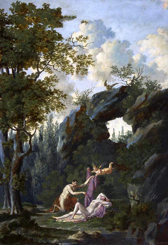 Volozan 1800-20 Pan decouvrant la Vertu Musee Aquitaine Bordeaux