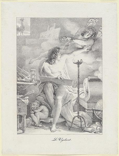 pierre-narcisse-guerin 1816 le-vigilant lithographie