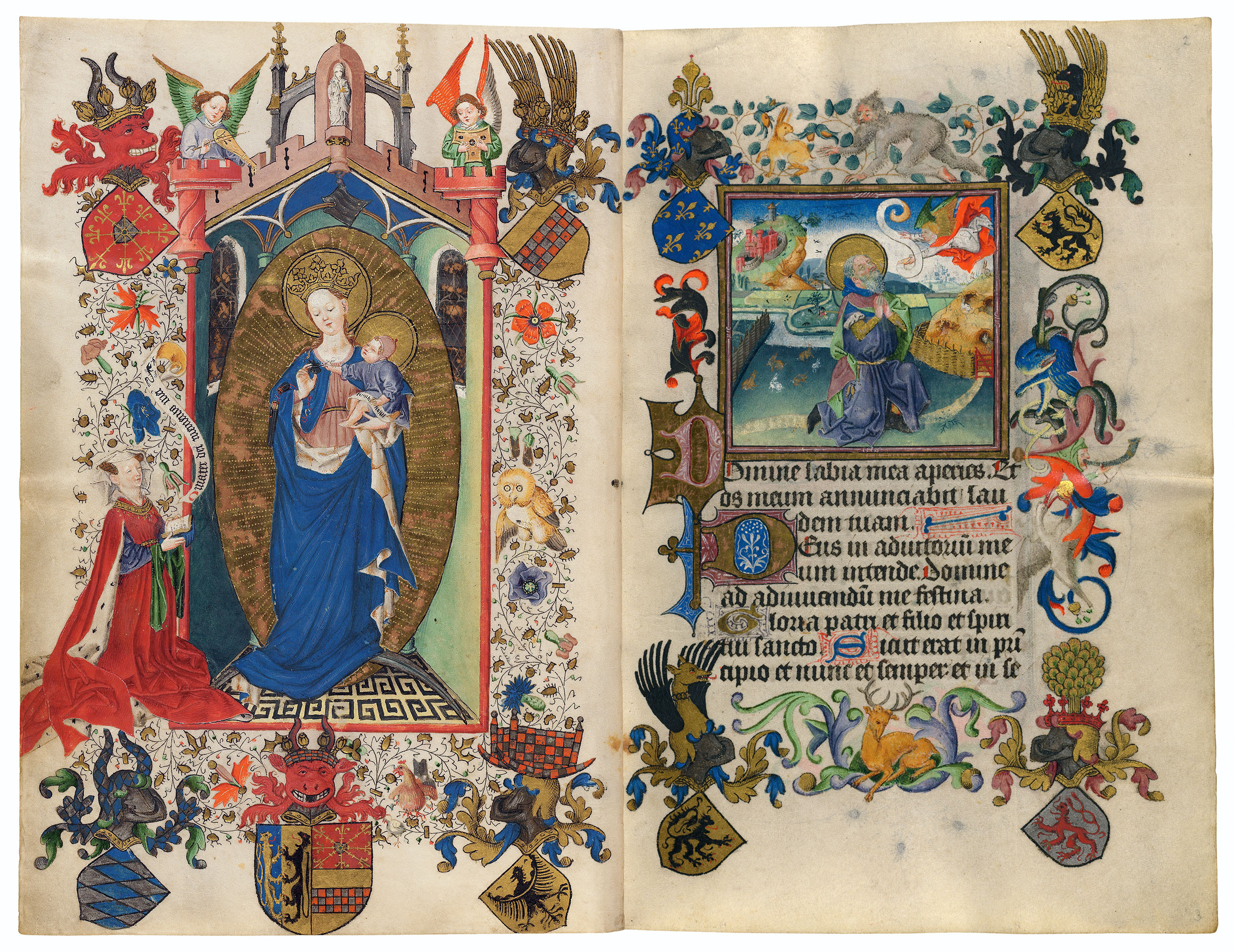 1440 Book of Hours Catherine de Cleves Morgan Library MS M.917945 fol 02r