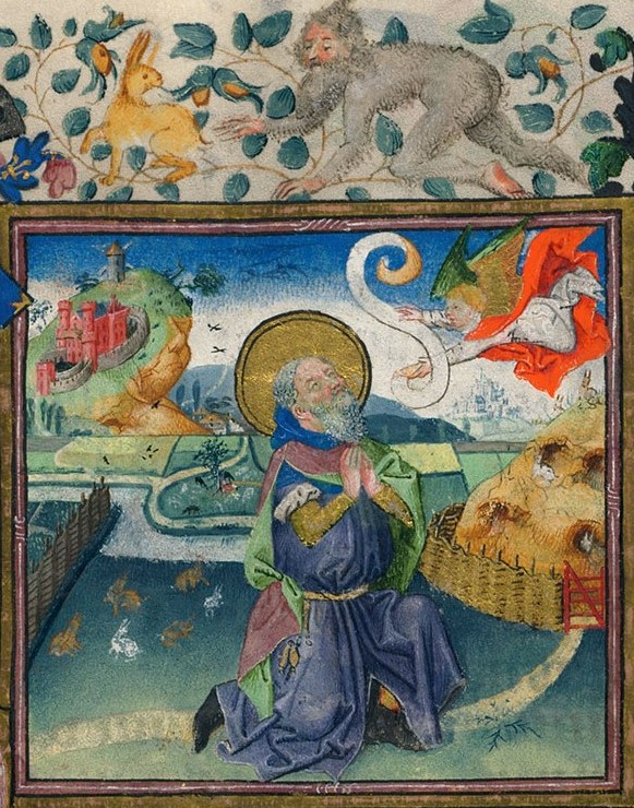 1440 Book of Hours Catherine de Cleves Morgan Library MS M.917945 fol 02r detail