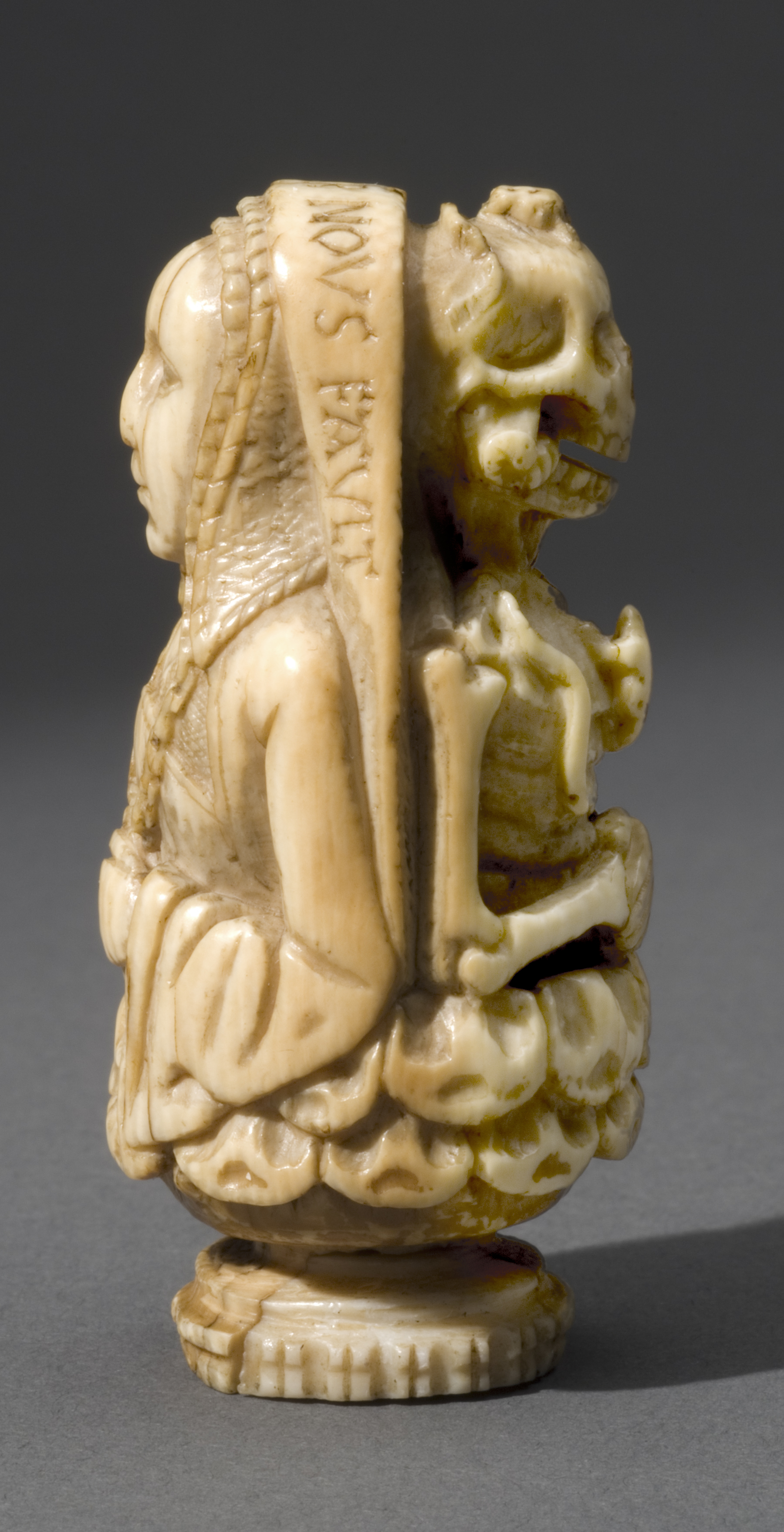 1475-1500 HELAS MOURIR NOUS FAULT Memento mori from France or Belgium B