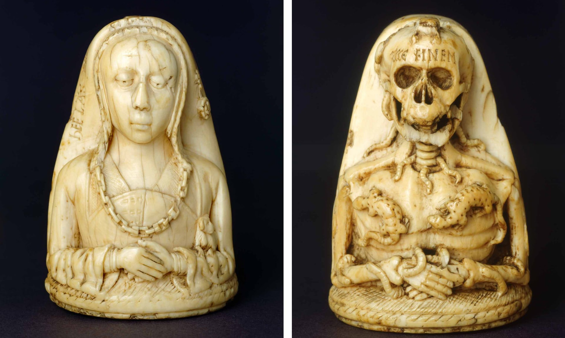 1475-1500 TroncDoubleB HELAS ECCE FINEM._French_ivory London, The Wernher Collection, Ranger's House