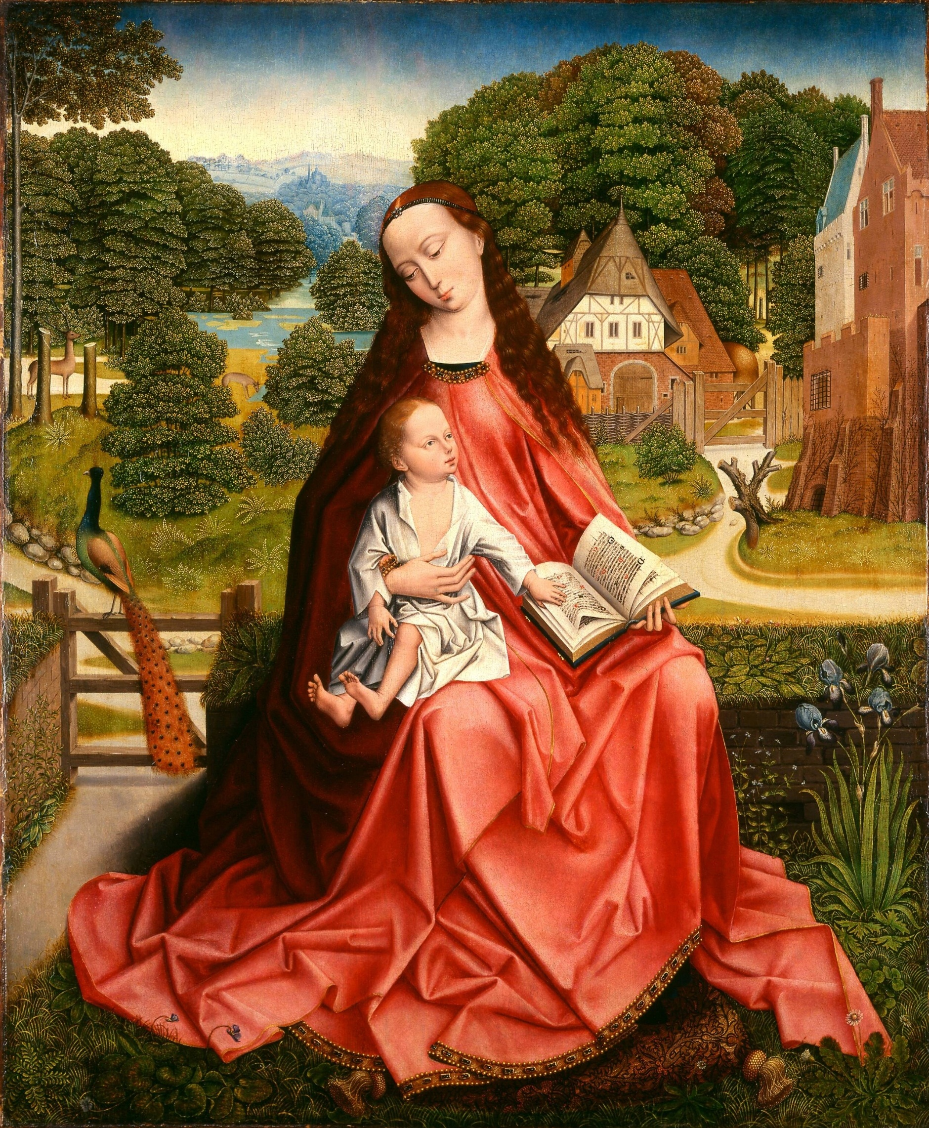 1492-1498 Aert van den Bossche Virgin_and_Child_in_a_Landscape Minneapolis Institute of Arts