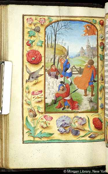 1500 ca Book of Hours Belgium, Bruges, Morgan Library MS M.390 fol. 57v