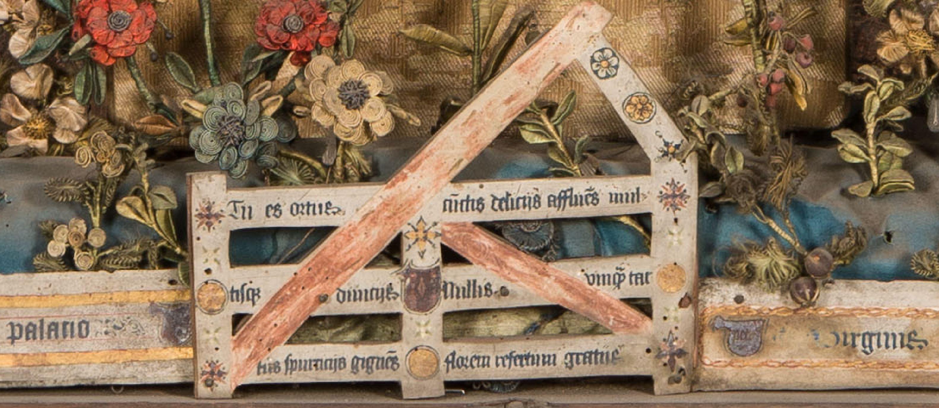 1510–30 Besloten_Hofje_met_Calvarie_en_jacht_op_de_eenhoorn_-_Museum_Hof_van_Busleyden_Mechelen (c) Kirk-IRPA detail