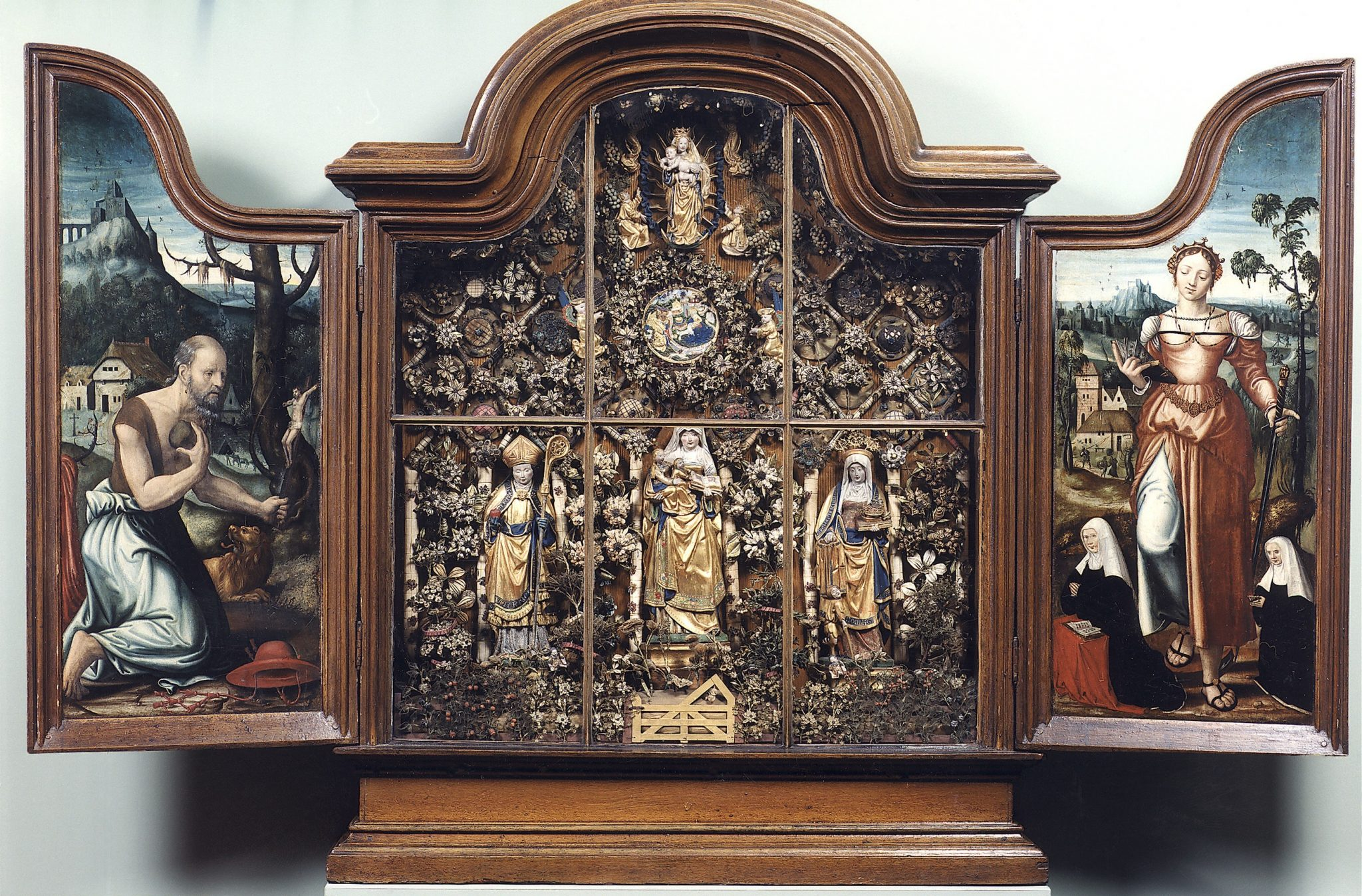 1529 ca Mechelen, Besloten Hofje with Saint Anne, Virgin Mary, and Christ Child Augustine, and Saint Elisabeth, Museum_Hof_van_Busleyden_Mechelen(c) Kirk-IRPA