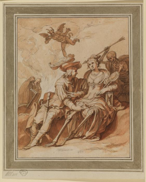 1620-30 Bloemaert, Abraham Death and the Lovers Dessin Courtauld Institute