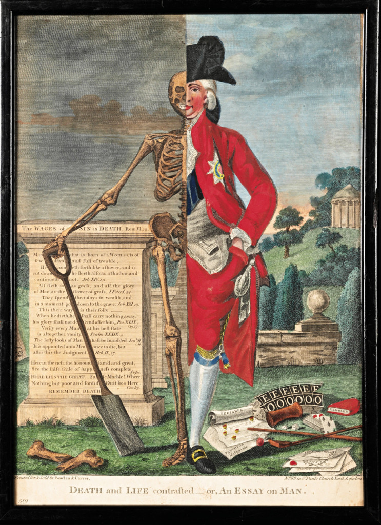 1770 Valentine Green Death and Life Contrasted — or, An Essay On Man; An Essay On Woman London