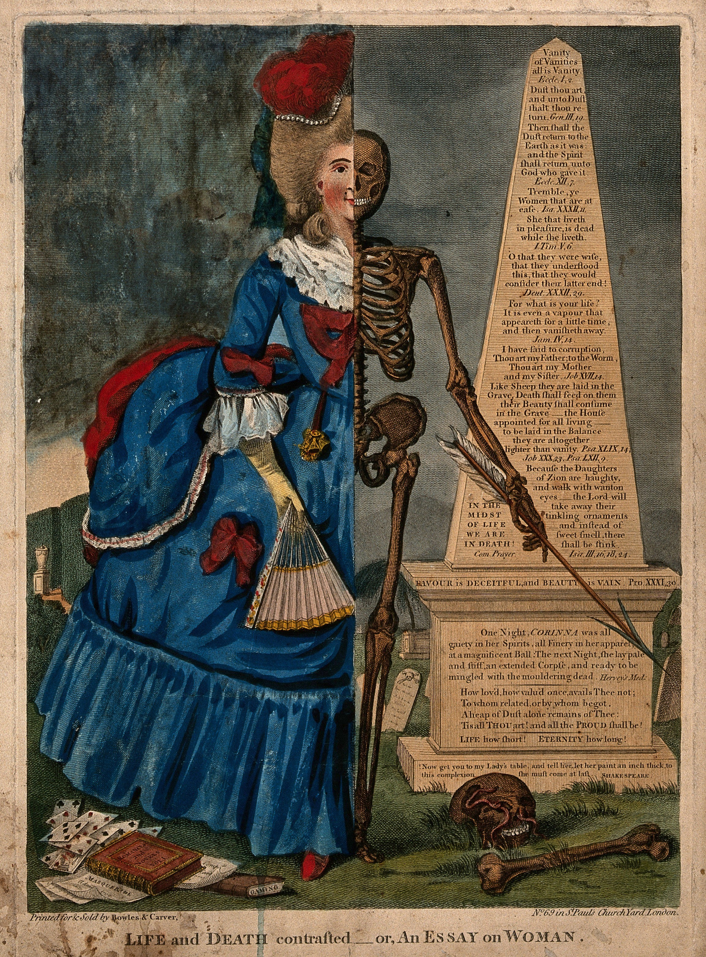1770 Valentine Green Death and Life Contrasted — or, An Essay On Man; An Essay On Woman Wellcome collection