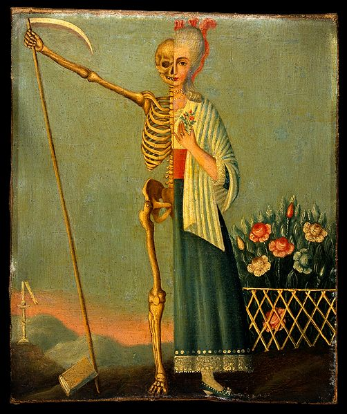 1780-1820 Life_and_death._Oil_painting._ Wellcome Library no. 45063i