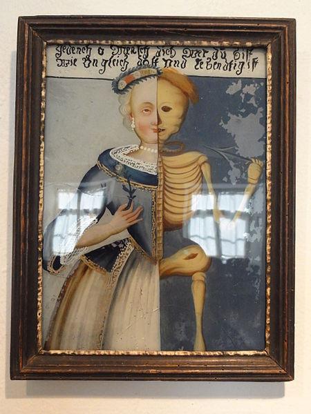 18. Jahrhundert Stadtischen Museum Rosenheim _Frau_halb_lebend,_halb_skelettiert
