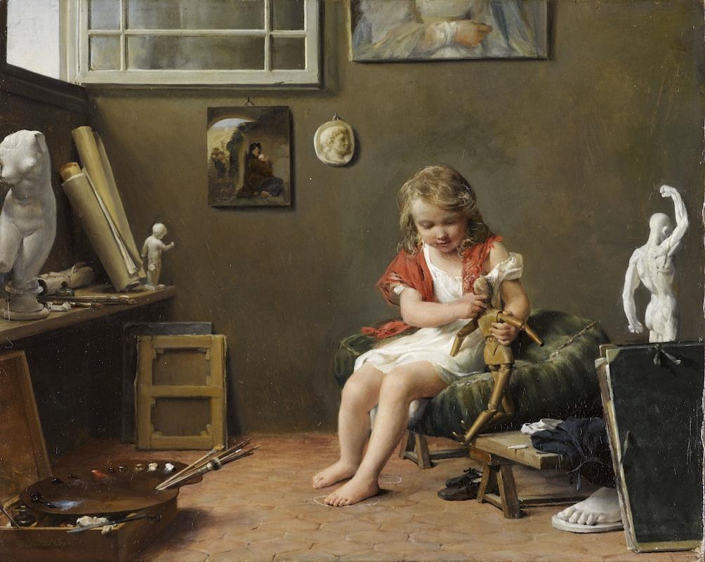 1831 Marie-Amelie Cogniet Intérieur d'atelier PBA Lille