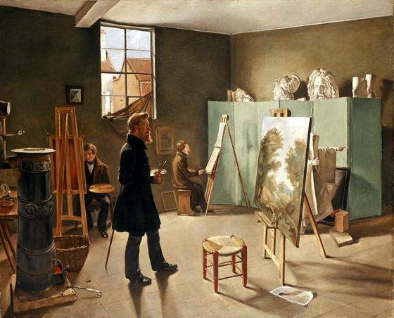 1834_Ferdinand_Tellgmann,_Im_Atelier Museumslandschaft_Hessen_Kassel