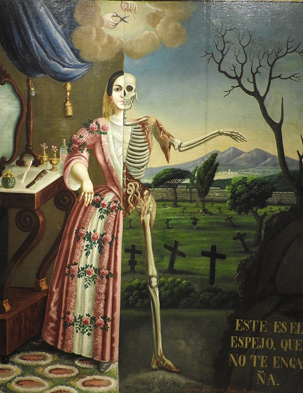 1856 Thomas Mondragon - Allegory of death Musee du Temple de la Profesa Mexico