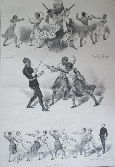 1885 Les Escrimeuses Viennoises au Figaro Emile Bayard