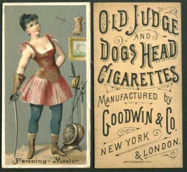 1887 Fencing - Master, from the Occupations for Women series (N166) for Old Judge and Dogs Head Cigarettes
