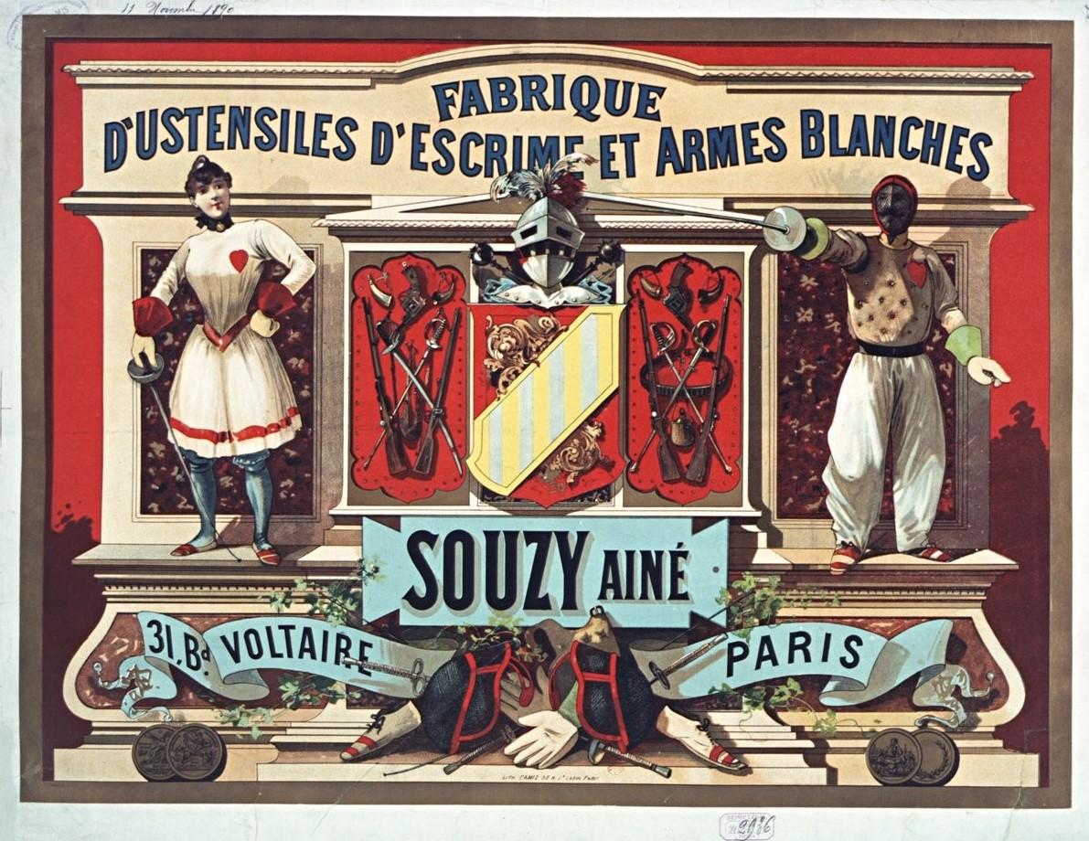 1890 Souzy Fabrique_d'ustensiles_d'escrime_et_armes Gallica