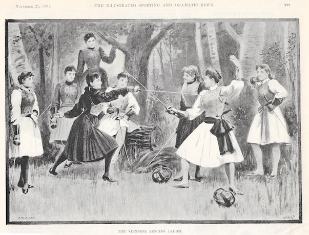 1891 hartl-girls Illustrated Sporting and dramatic news