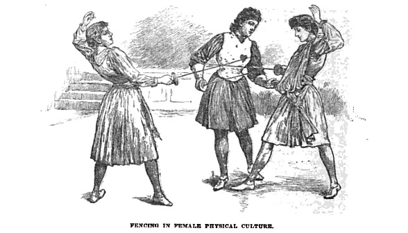1893 The American Magazine Fencing in Female Physical Culture