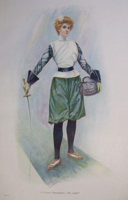 "1894 Damenfechten, Wer wagts"" (""Who Dares"") Edward Cucuel"