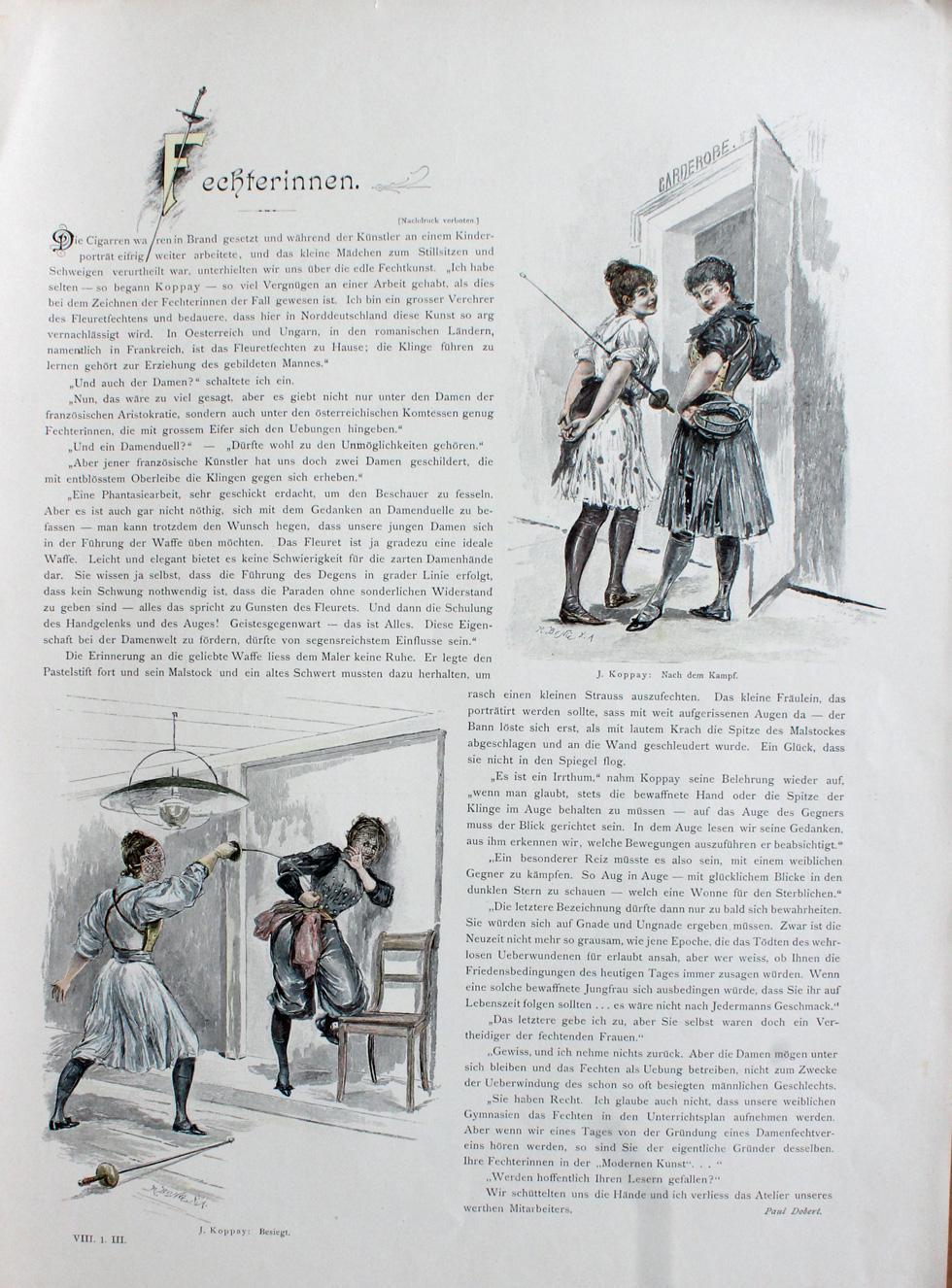 1894 Joseph Arnad Koppay A Moderne Kunst Annee VIII I Dobert