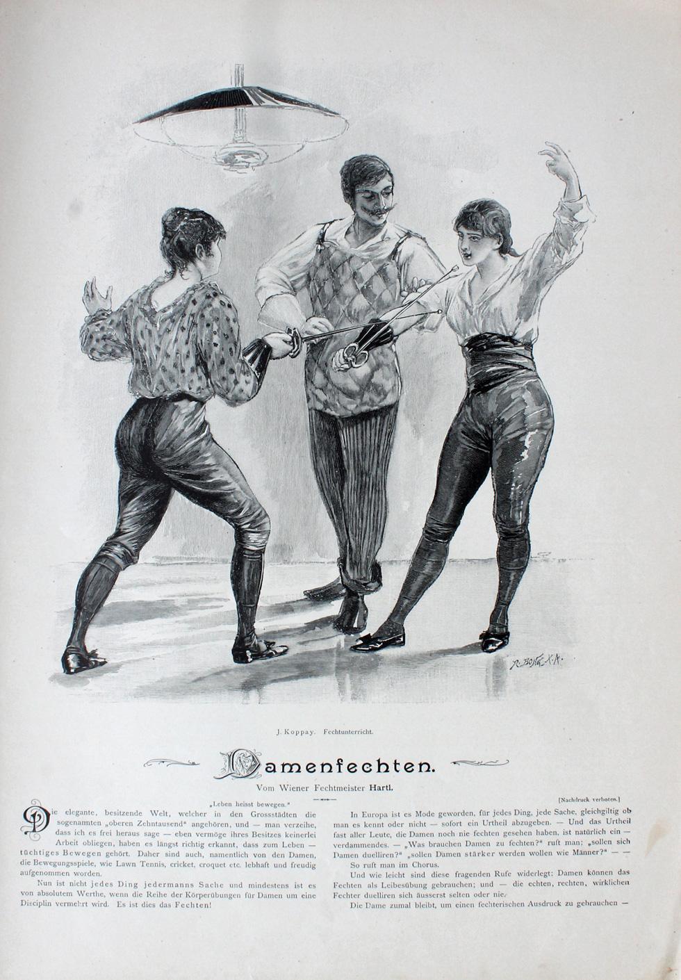 1894 Joseph Arnad Koppay Damenfechter Hartl Moderne Kunst Annee VIII III