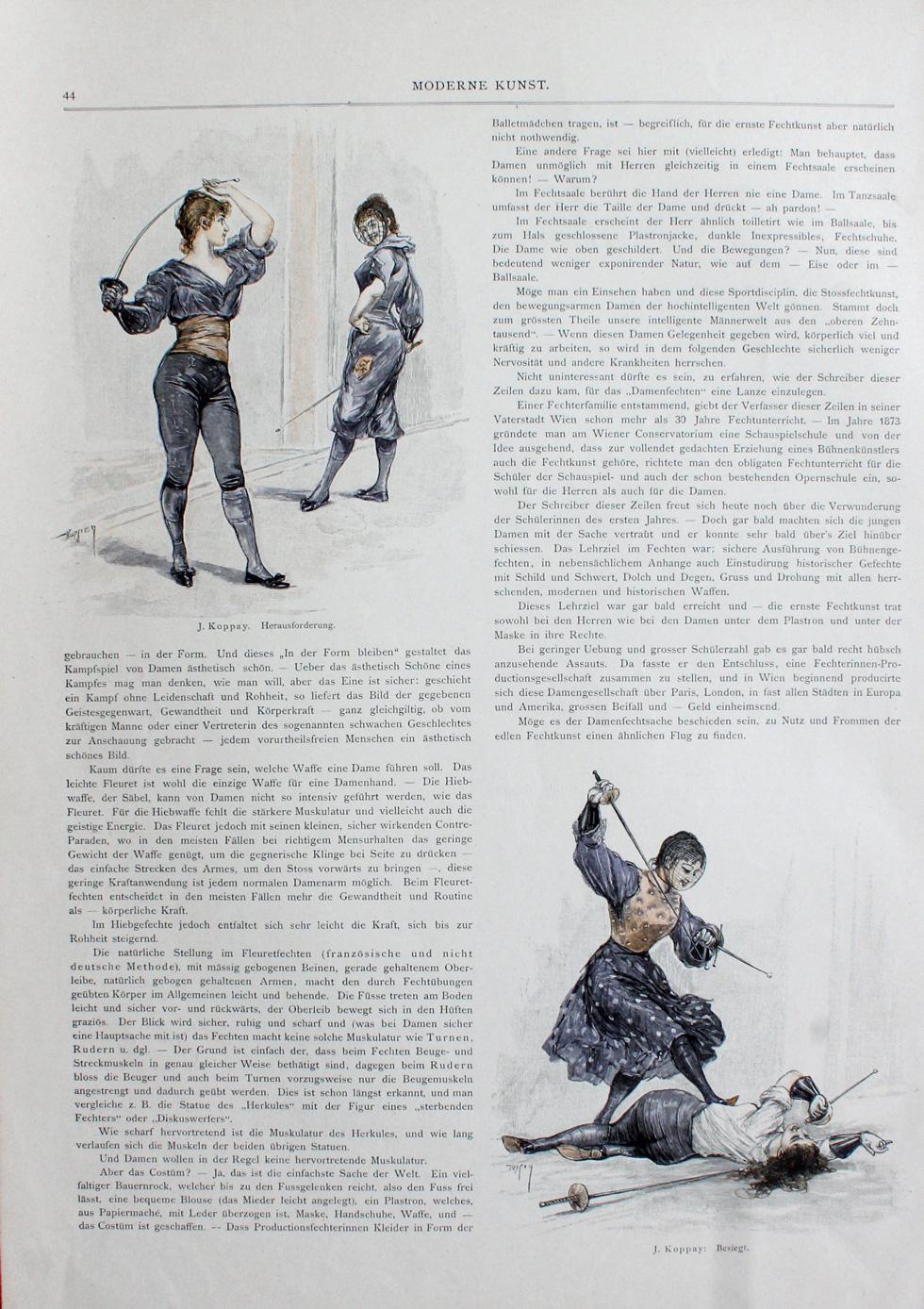 1894 ca Joseph Arnad Koppay B Moderne Kunst