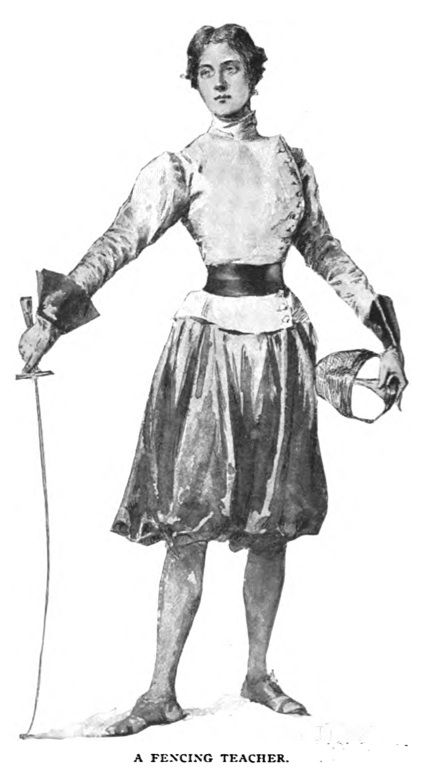 1897 A Fencing Teacher From Munsey's Magazine,