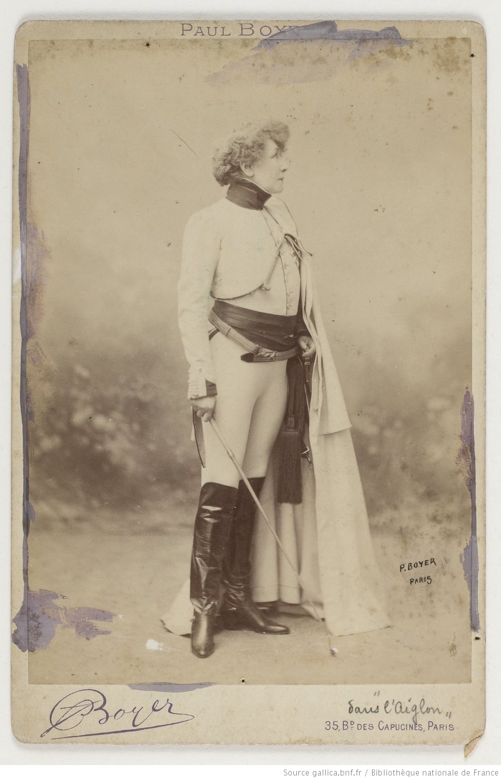 1899 ca Sarah-Bernhardt-dans-Aiglon Carte postale Paul Boyer Gallica