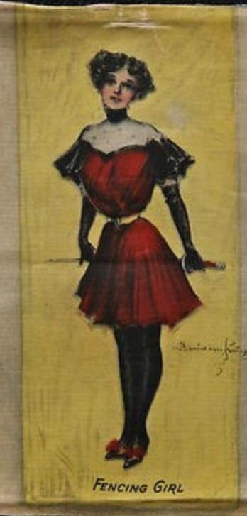 1901 FENCING GIRL HamiltonKing Tobacco