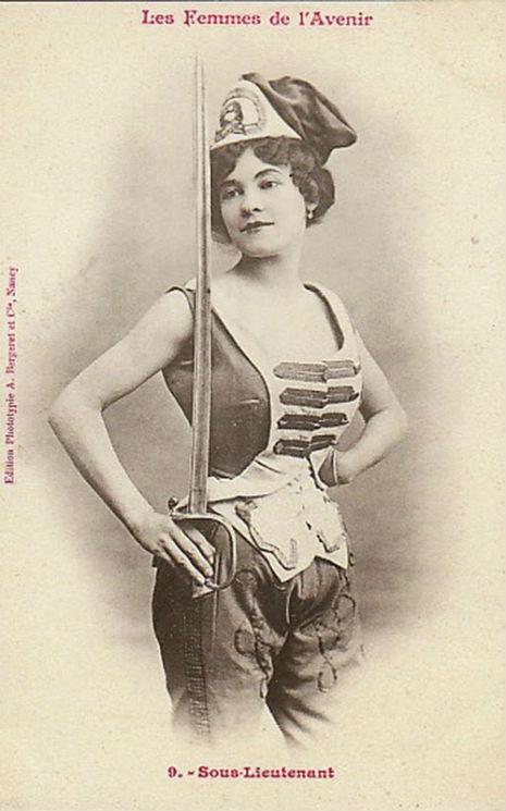 1902 Sous lieutenant Femmes de l'avenir Albert Bergeret