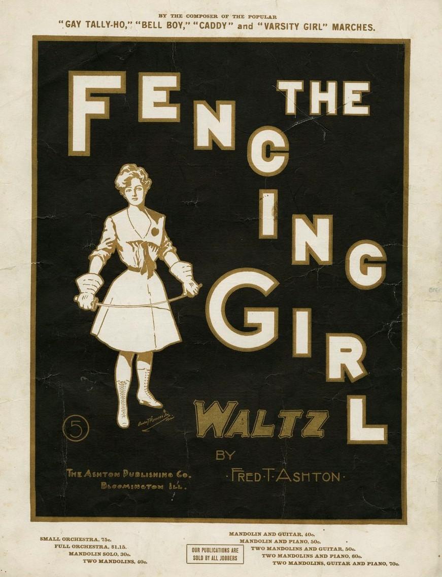 1902 The fencing girl Valse Bloomington, IL The Ashton Publishing co