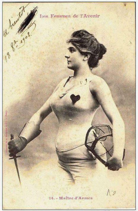 1902 maitre d'armes Femmes de l'avenir Albert Bergeret