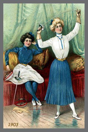 1903 Yale Women Fencing